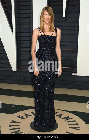 Beverly Hills, Kalifornien, USA. 26. Februar 2017. Laura Dern. 2017 Vanity Fair Oscar Party statt im Wallis Annenberg - Stockfoto