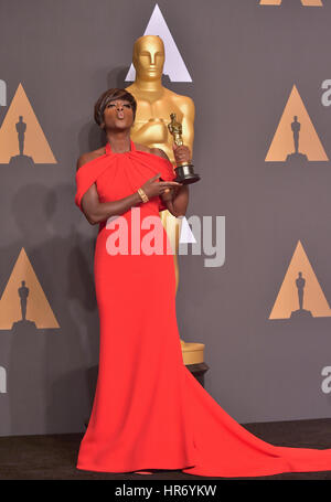 Hollywood, CA. 26 Feb, 2017. Viola Davis, am 89. jährlichen Academy Awards Presse im Hollywood & Highland Center, - Stockfoto