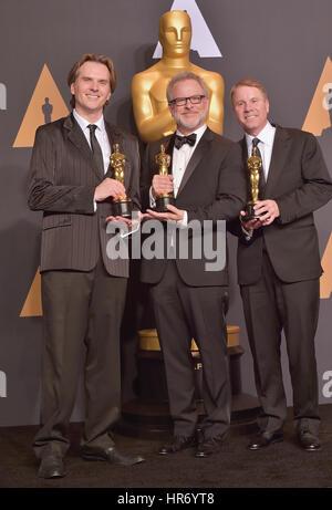 Hollywood, CA. 26 Feb, 2017. Alan barillaro, marc Sondheimer, an der 89. jährlichen Academy Awards Presse im Hollywood - Stockfoto