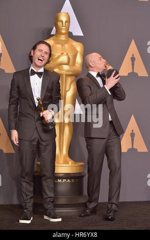 Hollywood, CA. 26 Feb, 2017. Alan barillaro, Marc sondheime, an der 89. jährlichen Academy Awards Presse im Hollywood - Stockfoto