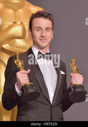 Hollywood, CA. 26 Feb, 2017. justin Hurwitz, an der 89. jährlichen Academy Awards Presse im Hollywood & Highland - Stockfoto