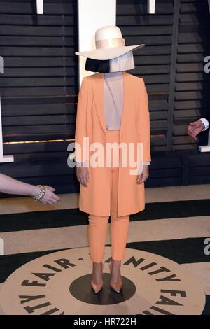 Beverly Hills, Kalifornien. 26. Februar 2017. SIA nimmt die 2017 Vanity Fair Oscar Party hosted by Graydon Carter - Stockfoto