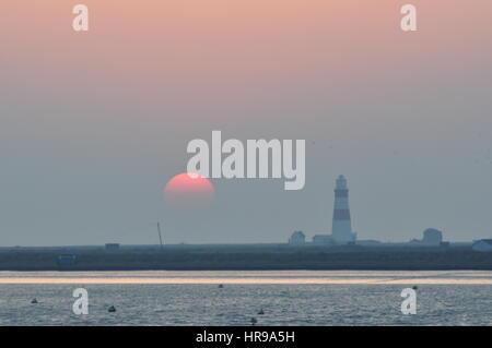 Orfordness Lighthouse, Suffolk, UK - Stockfoto