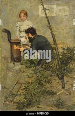 Fritz von Uhde - Nach Weihnachten - Stockfoto