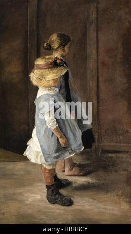 Fritz von Uhde - Kinderstudie - Stockfoto
