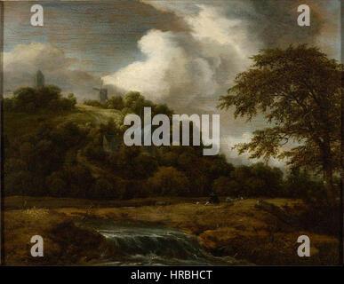Salomon van Ruysdael (Toegeschr.) - landschap - Stockfoto