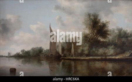 Salomon van Ruysdael-Paysage-Grenoble - Stockfoto