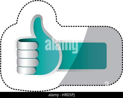 Farbe Hand machen gutes Zeichen Symbol - Stockfoto