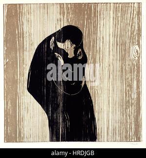 Edvard Munch - Kiss IV - Google Art Project - Stockfoto