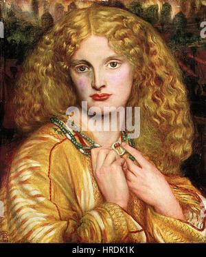 Dante Gabriel Rossetti - Helena von Troja - Stockfoto