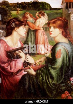 Dante Gabriel Rossetti - Bower Wiese - Stockfoto