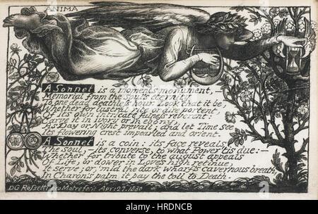 Dante Gabriel Rossetti - Anima - das Sonett - Stockfoto