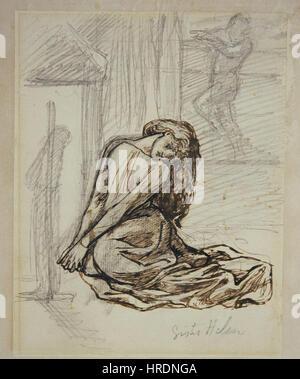 Dante Gabriel Rossetti - Schwester Helen - Stockfoto
