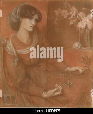 Dante Gabriel Rossetti - Mariana (1868) - Stockfoto