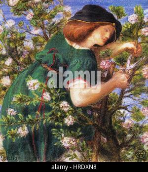 Dante Gabriel Rossetti - Gartenarbeit (Frühling) - Stockfoto