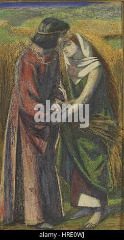Dante Gabriel Rossetti - Ruth und Boas - Stockfoto