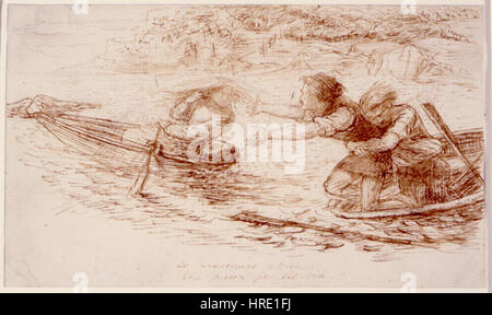 Dante Gabriel Rossetti - Schiffer und Sirene - Stockfoto