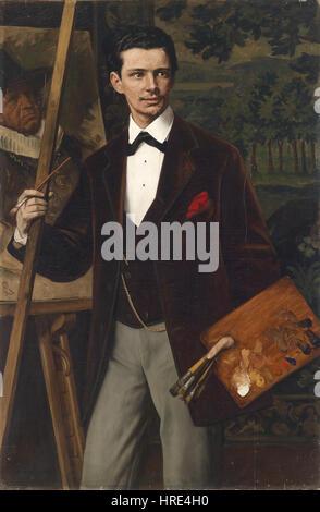 Eduard von Gebhardt Bildnis des Malers 1881 - Stockfoto