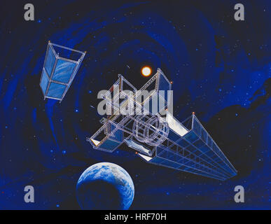 NASA-Satelliten, Konzeptbild - Stockfoto