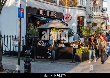 Joe der Saft, Kings Road, Chelsea, London - Stockfoto