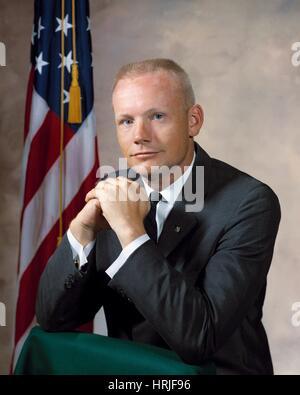 Neil Armstrong, US-amerikanischer Astronaut - Stockfoto