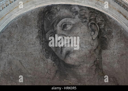 Rom. Italien. Villa Farnesina. Kopf eines jungen Mannes, einmal zugeschrieben Michelangelo, vermutlich jetzt von - Stockfoto