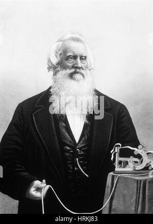 Samuel Morse, US-amerikanischer Erfinder - Stockfoto