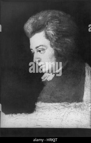 Wolfgang Amadeus Mozart, österreichischer Komponist - Stockfoto