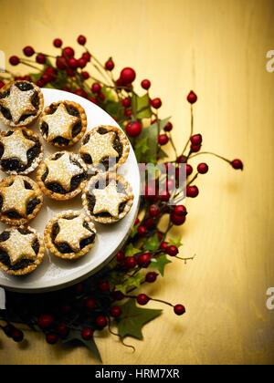 Hausgemachte Obst Chrismas Mince pies - Stockfoto
