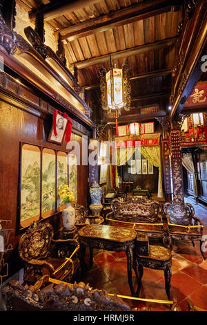 Innenraum des alten Hauses Tan Ky Hoi an eine alte Stadt, Provinz Quang Nam, Vietnam.