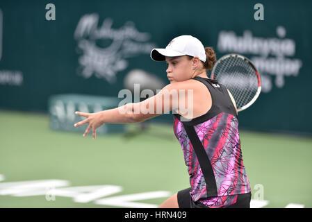 Kuala Lumpur, Malaysia. 3. März 2017. Ashleigh Barty Australiens abgebildet beim Viertelfinalspiel der ALYA WTA - Stockfoto
