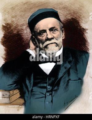 Louis Pasteur, französischer Chemiker und Bakteriologe - Stockfoto