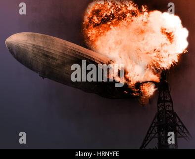 Hindenburg-Katastrophe, 6. Mai 1937 - Stockfoto