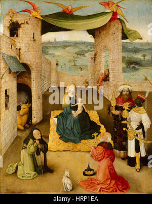 Anbetung der Könige von Hieronymus Bosch - Stockfoto