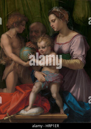 Heilige Familie mit jungen Johannes der Täufer - Stockfoto