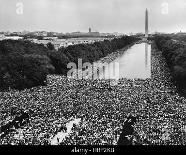 Marsch auf Washington für Arbeitsplätze und Freiheit, 1963 - Stockfoto