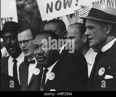 Martin Luther King Jr., Marsch auf Washington, 1963 - Stockfoto
