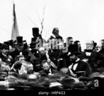 Präsident Lincoln, Gettysburg Address 1863 - Stockfoto
