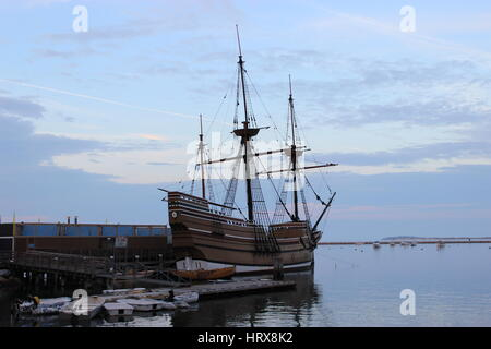 Die Mayflower in Plymouth, Massachusetts - Stockfoto