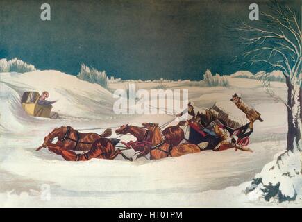 """""""Die Liverpool Mail in der Nähe von St Albans"""", 19. Jahrhundert. Künstler: Robert Havell. - Stockfoto"""