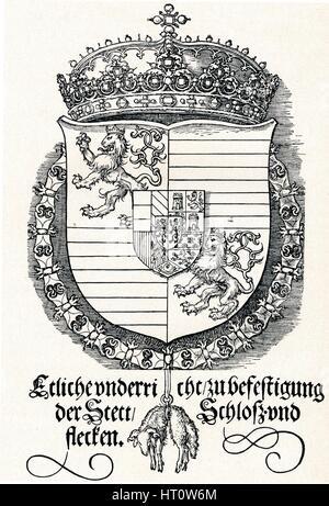 """""""Das Wappen von Ferdinand i., König von Ungarn und Böhmen"""", 1527 (1906). Künstler: Albrecht Dürer. - Stockfoto"""