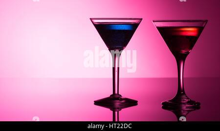 Bunte Cocktails reflektierende obenauf - Stockfoto