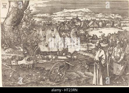 Landschaft mit einer Kanone, 1518. Künstler: Dürer, Albrecht (1471-1528) - Stockfoto