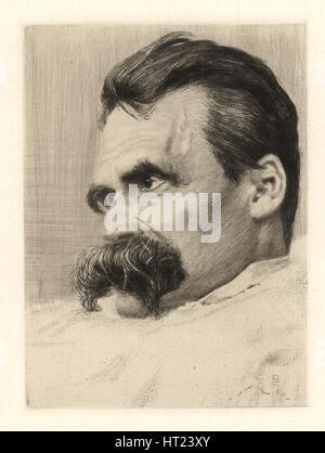 Porträt von Friederich Nietzsche, 1899-1900. Künstler: Olde, Hans (1855-1917) - Stockfoto