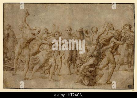 Das Massaker der unschuldigen, c. 1512. Künstler: Raffael (1483-1520) - Stockfoto