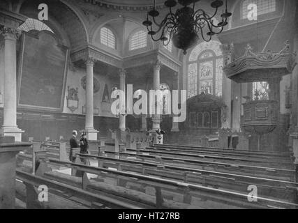 Kirche von St. Stephen Walbrook, City of London, c1890 (1911). : Künstleragentur bildhaft. - Stockfoto