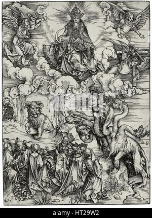 Das Tier mit zwei Hörner wie ein Lamm, c. 1497. Künstler: Dürer, Albrecht (1471-1528) - Stockfoto
