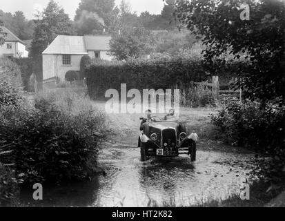 BSA 3-Wheeler, B & HMC Brighton-Bier Trial, Windout Lane, in der Nähe von Dunsford, Devon, 1934. Künstler: Bill - Stockfoto