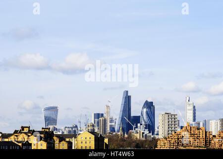 Skyline von London und dem Finanzviertel, UK - Stockfoto