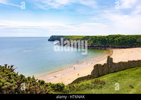 Barafundle Bay Beach, Stackpole, Wales, UK - Stockfoto